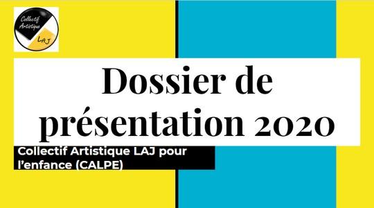cover dossier de présentation 2020